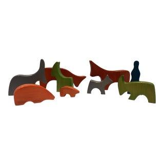 Antonio Vitalli Wooden Figures - Set of 8