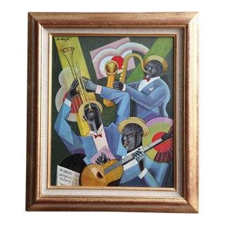 "Bela De Kristo ""Jazz Trio"" Painting For Sale"