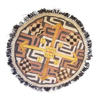 Hand Woven Kuba Cloth Floor Mat For Sale