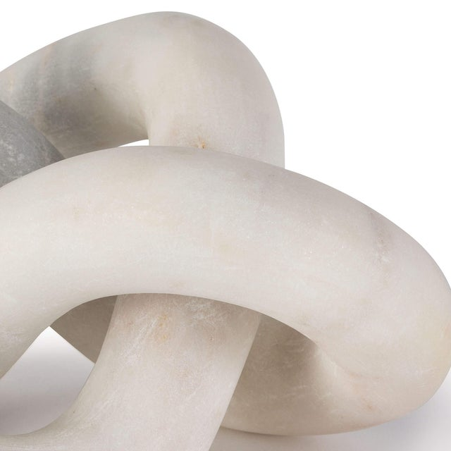 Traditional Cassius Marble Sculpture in White For Sale - Image 3 of 5