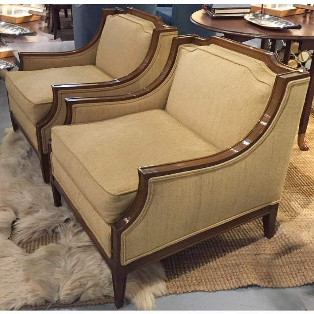 Mid-Century Regency, Transitional Style Club Chairs - a Pair - Image 2 of 8