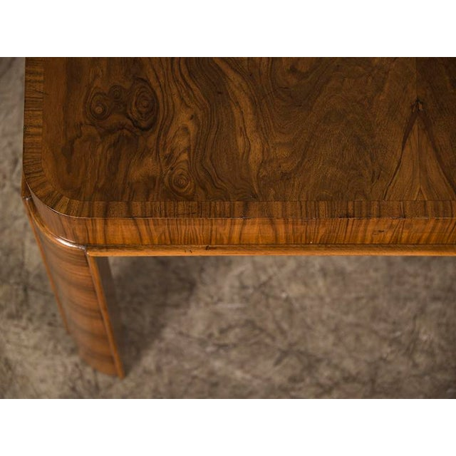 Unique Art Deco Period Burl Walnut Square Table, Germany c. 1930 For Sale In Houston - Image 6 of 7