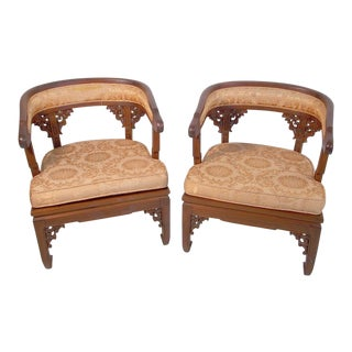 1960s Vintage Asian Style Chairs- a Pair For Sale