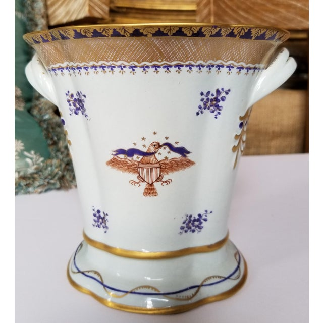 Asian Chinese Export Style Vase by Mottahedeh For Sale - Image 3 of 11