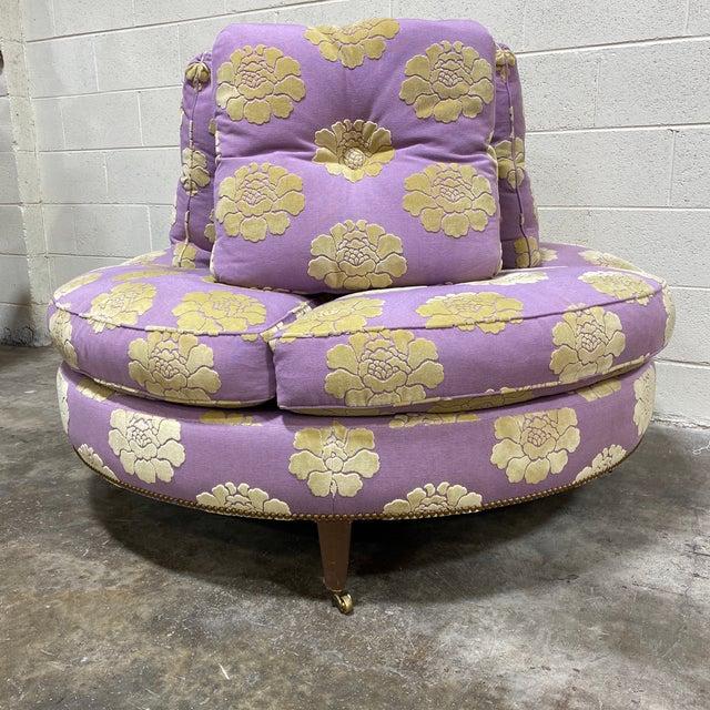 John Boone John Boone Custom Upholstered Circular Sofa For Sale - Image 4 of 13