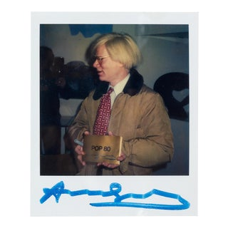 'Pop Art' Keith Haring Polaroid of Andy Warhol ca. 1980 For Sale