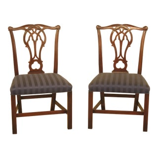 Kittinger Cw-16 Chippendale Mahogany Side Chairs - A Pair
