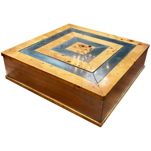 Brown Tommaso Barbi 1960 Jewelry Box in Birch For Sale - Image 8 of 8