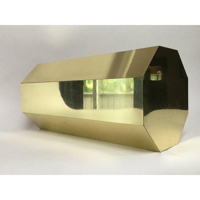 Paul Evans Paul Evans Style Octagonal Brass Pedestal For Sale - Image 4 of 9