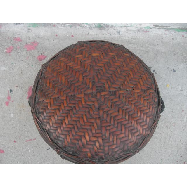 Early 20th Century Antique Lidded Rice Basket For Sale In Los Angeles - Image 6 of 7