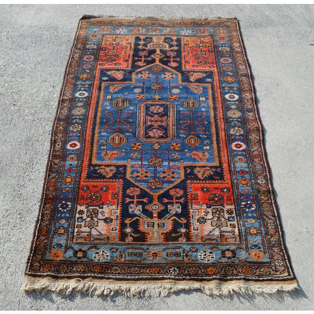 "Vintage Persian Tribal Rug - 4'3"" X 7'4"" - Image 2 of 4"