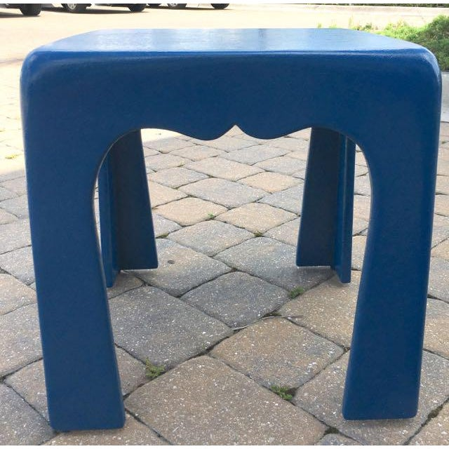 Vintage Blue Fiberglass Occasional Tables - A Pair For Sale - Image 10 of 13