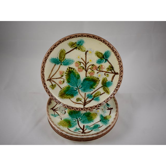 A set of four dessert or fruit plates, attributed to Zell United Ceramic Factories – Georg Schmider (Germany) circa 1907 –...