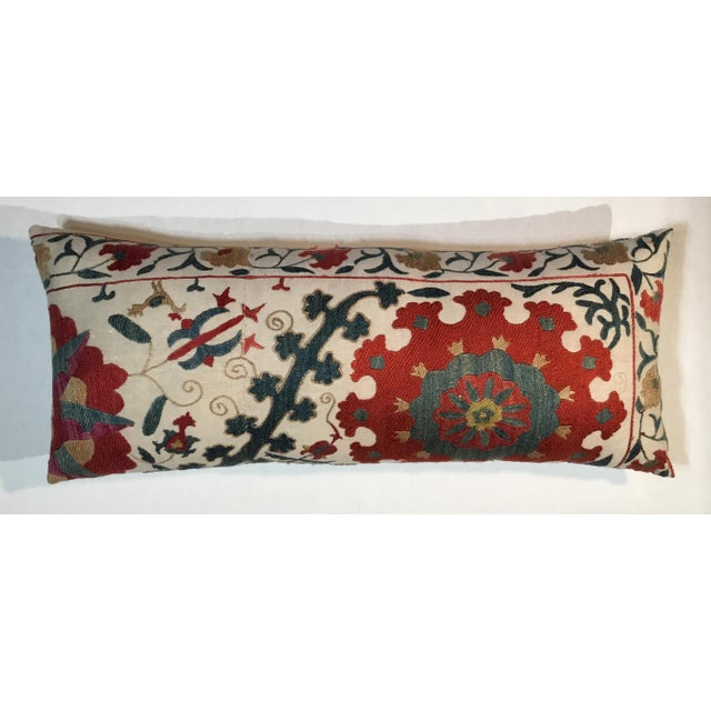 1960s Mediterranean Hand Embroidery Suzani Pillow For Sale - Image 4 of 11