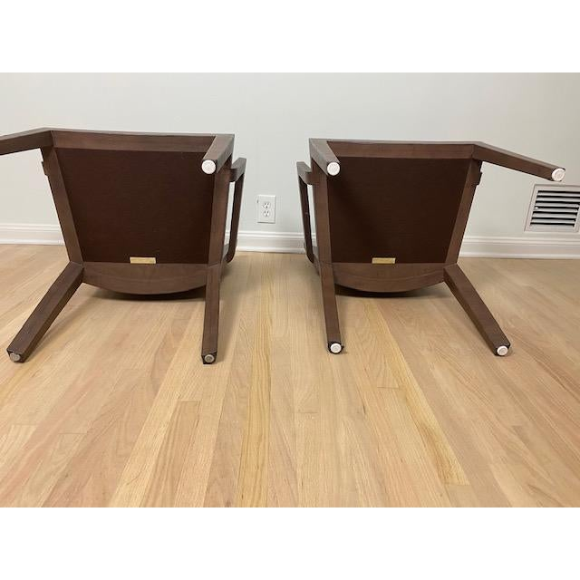 1980s Vintage Karl Springer Jmf Lizard Skin Chairs - a Signed Pair For Sale In Los Angeles - Image 6 of 12