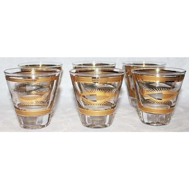 Fred Press Gilded Double Shot Glasses - Set of 6 - Image 2 of 6