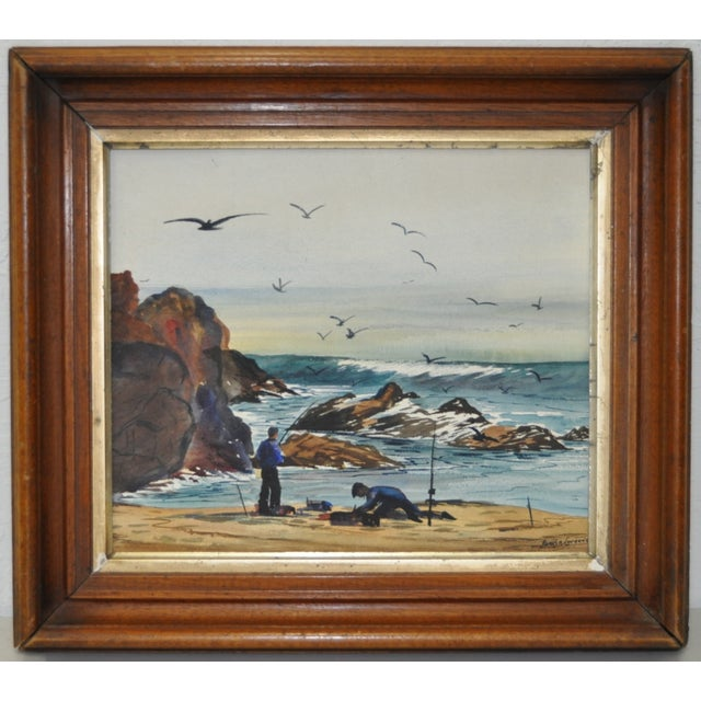 James A. Lawrence Watercolor Painting C.1940s - Image 2 of 5