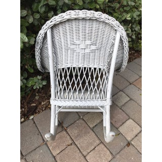 1940s Vintage Bar Harbor Wicker Children's Rocker Preview
