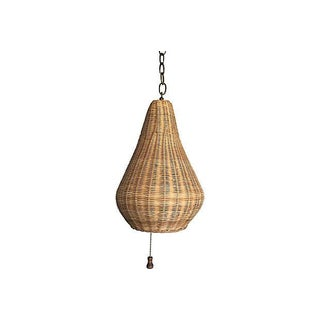 1960s Wicker Beehive Pendant Light Preview