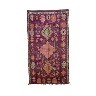 """1970s Moroccan Boujad Rug - 5'11"""" X 10'4"""" For Sale"""