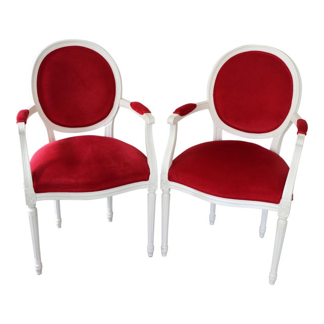 Ethan Allen Cassatt Armchairs - A Pair For Sale
