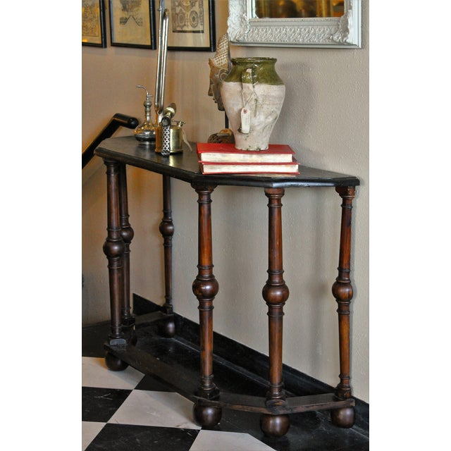 French Antique Console Tables - Pair - Image 5 of 5