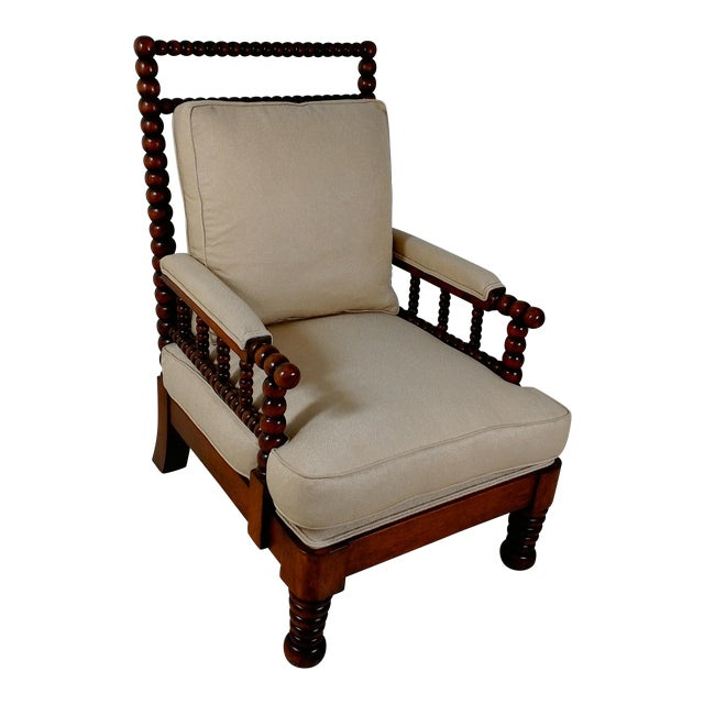 1980s Robert Scott Walnut Accent Chair For Sale