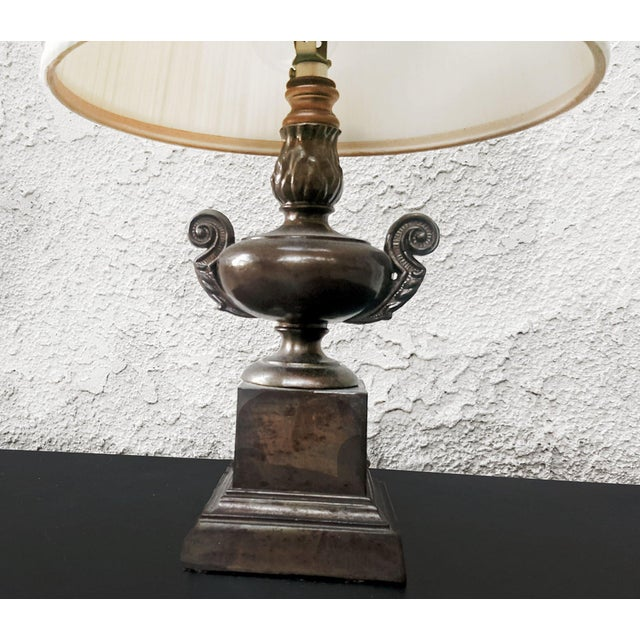 1920s Vintage Petit Decorative Trophy Cup Table Lamp For Sale - Image 5 of 8