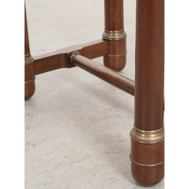 Early 20th Century French Empire Mahogany Marble Top Table For Sale - Image 11 of 13
