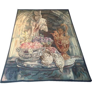 Antique Handmade French Tapestry For Sale