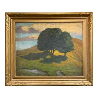 1910s American Tonal Landscape Painting, Framed For Sale