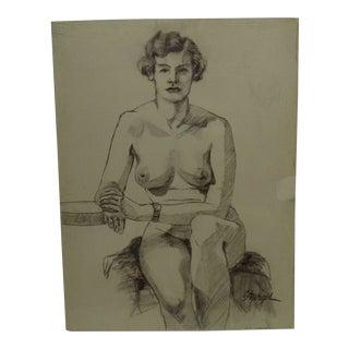 "Original Drawing Sketch ""Bella"" by Tom Sturges Jr., 1950"