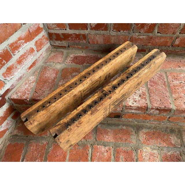 Antique German Wood Cigar Molds - a Pair For Sale - Image 10 of 13