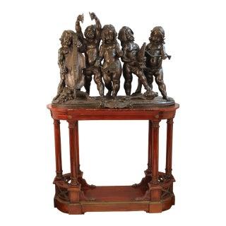 Italian Renaissance Revival Bronze Putti Concerto Attributed to Ferdinando Vichi For Sale