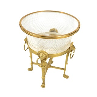 Austrian Crystal & Gilt Centerpiece For Sale