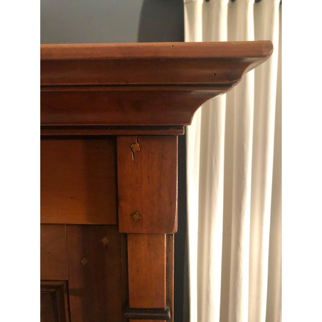 1980s Grange Directoire Distressed Fruitwood Clothing Armoire For Sale In New York - Image 6 of 10