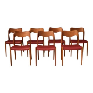 Danish Teak Niels Moller Dining Chairs- Set of 8 For Sale