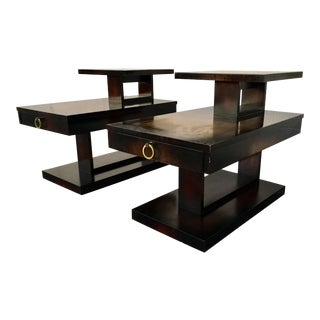 1960s Mid Century Modern Brutalist Lane Side Tables - a Pair For Sale