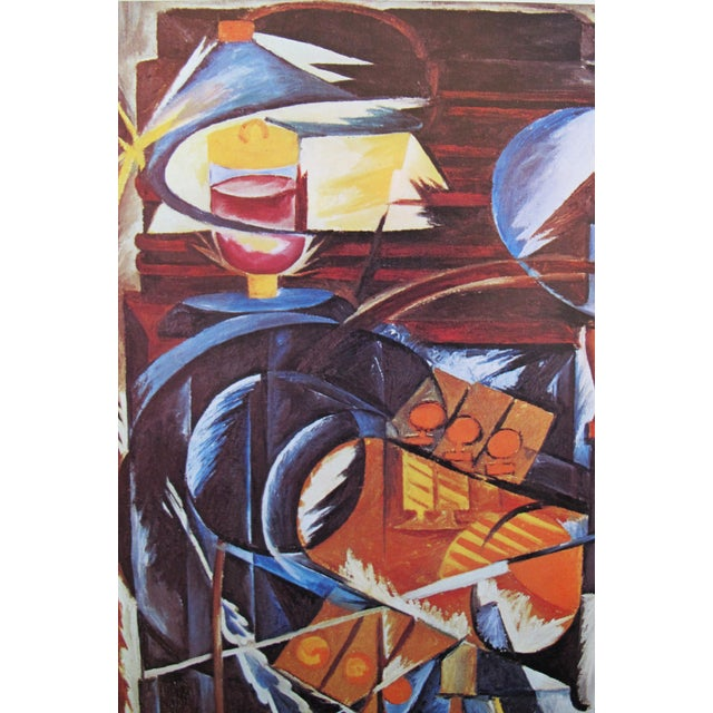 1973 Abstract Cubist Exhibition Poster, Gontcharova For Sale - Image 4 of 5