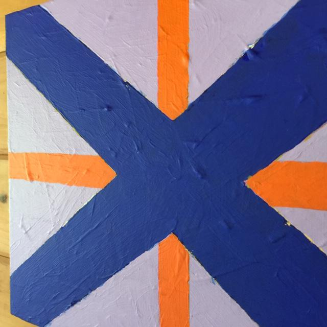 """Contemporary """"Flag"""" painting. Part of a series painted in 2020. Acrylic on canvas. 12'x16""""."""