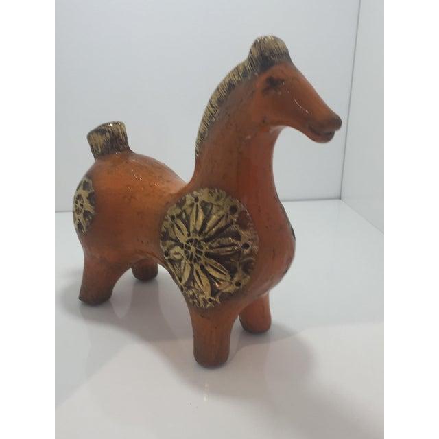 Mid-Century Modern Mid Century Bittosi Horse Scavo Italy by Aldo Londi For Sale - Image 3 of 9