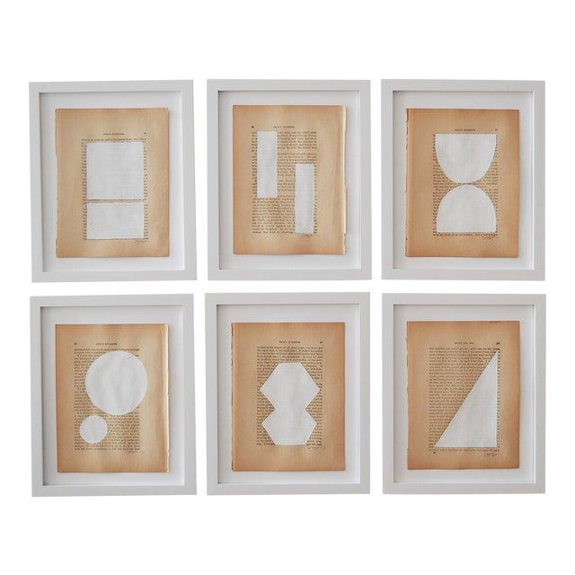 Josh Young Design House Blanc Géométrique Collection Paintings - 6 Pieces For Sale