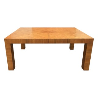Mid-20th Century Milo Baughman / Thayer Coggin Burl Dining Table For Sale