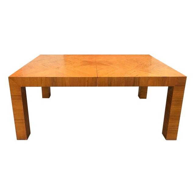 Mid-20th Century Milo Baughman / Thayer Coggin Burl Dining Table For Sale