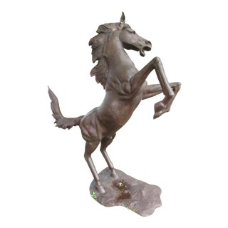 Bronze Statue of Horse on Hind Legs For Sale