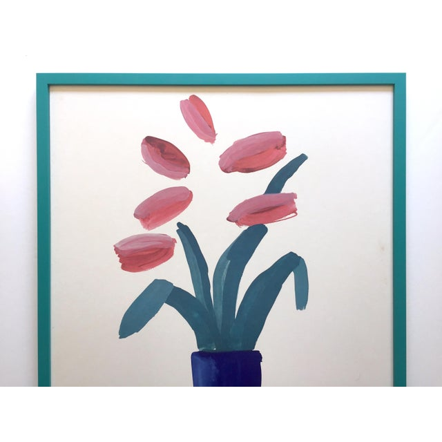 """This David Hockney rare vintage 1981 lithograph print custom framed iconic """" Paris Review """" 25th Anniversary collector's..."""