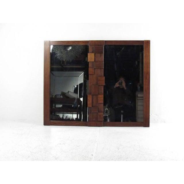 Lane Furniture Vintage Modern Brutalist Bedroom Set by Lane Furniture For Sale - Image 4 of 11