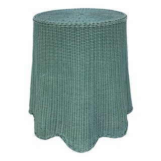 Wicker Tromp L'Oeil Draped Silhouette Table For Sale
