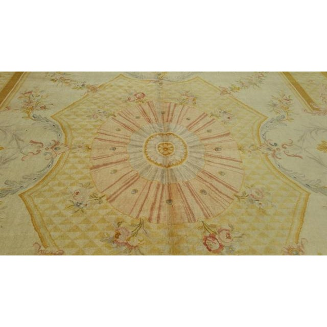 14'x19' Aubusson Design Hand Made Knotted Rug - Size Cat. 12x18 13x20 - Image 4 of 12