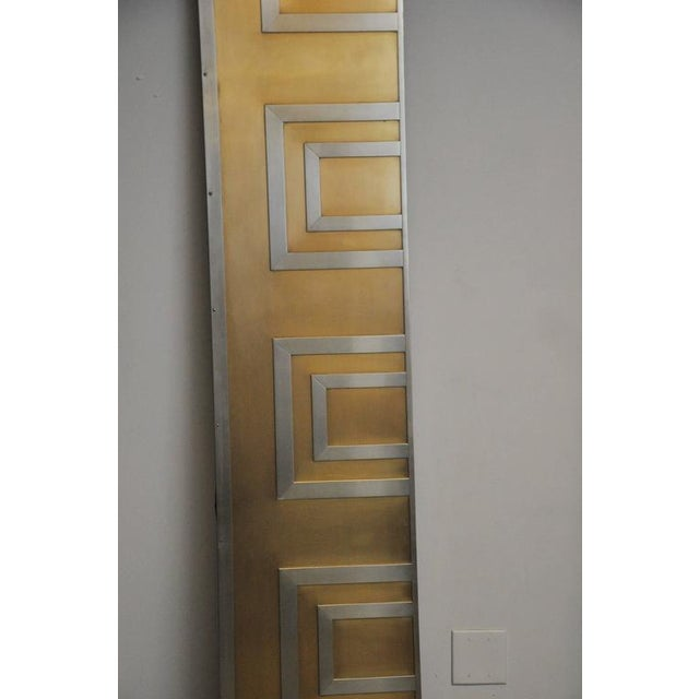 1970s Glamorous Bronze and Stainless Entry Doors For Sale - Image 5 of 7